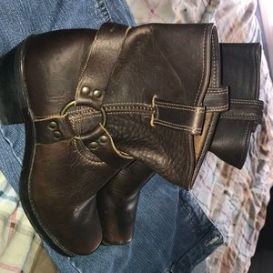 Frye Brown Leather Bootie